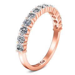 Diamond Wedding Band Grande 0.66 Cts 14K Rose Gold