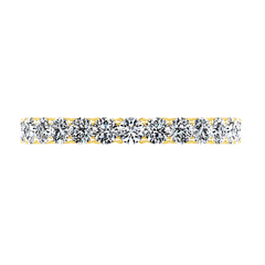 Diamond Wedding Band Grande 0.66 Cts 14K Yellow Gold