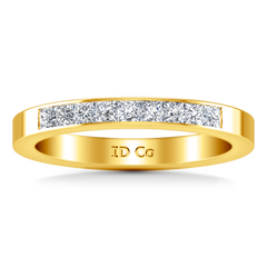 Diamond Wedding Band Rebecca 0.26 Cts 14K Yellow Gold