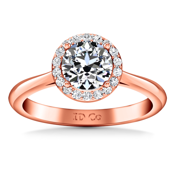 Halo  Engagement Ring Etoile 14K Rose Gold