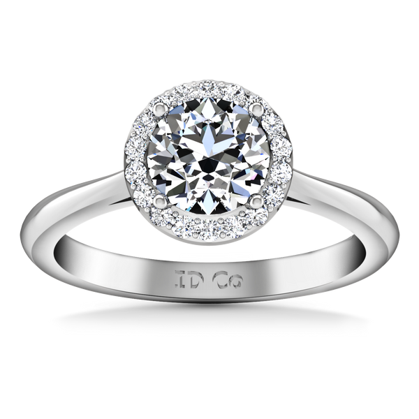 Halo  Engagement Ring Etoile 14K White Gold