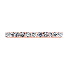 Diamond Wedding Band Etoile 0.17 Cts 14K Rose Gold