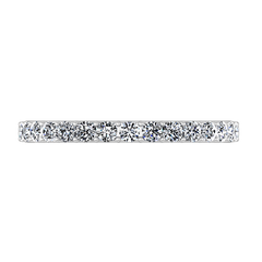 Diamond Wedding Band Etoile 0.17 Cts 14K White Gold