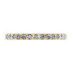 Diamond Wedding Band Etoile 0.17 Cts 14K Yellow Gold