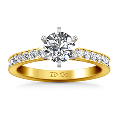Pave Engagement Ring Bianca 14K Yellow Gold