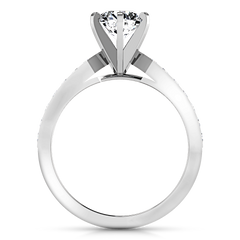 Pave Engagement Ring Bianca 14K White Gold