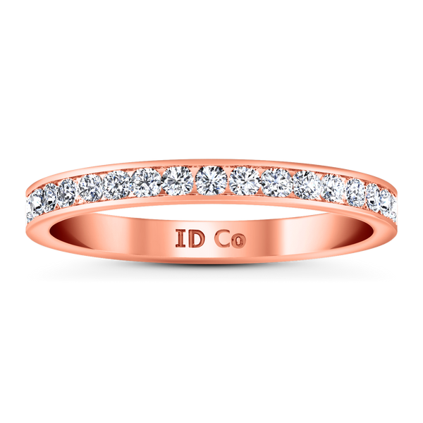 Diamond Wedding Band Bianca 0.26 Cts 14K Rose Gold