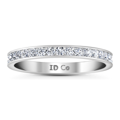 Diamond Wedding Band Bianca 0.26 Cts 14K White Gold