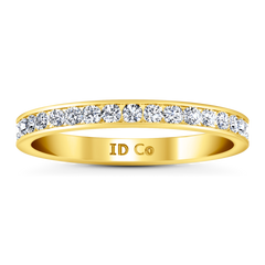 Diamond Wedding Band Bianca 0.26 Cts 14K Yellow Gold