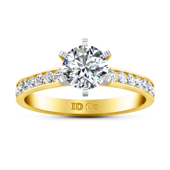 Pave Engagement Ring Yvonne 14K Yellow Gold
