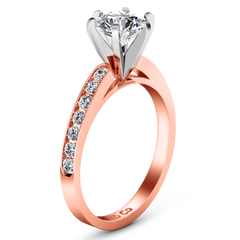 Pave Engagement Ring Yvonne 14K Rose Gold