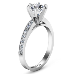 Pave Engagement Ring Yvonne 14K White Gold