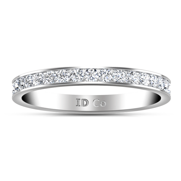 Diamond Wedding Band Yvonne 0.52 Cts 14K White Gold