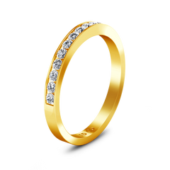Diamond Wedding Band Yvonne 0.52 Cts 14K Yellow Gold