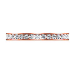 Diamond Wedding Band Yvonne 0.52 Cts 14K Rose Gold