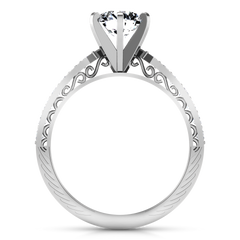 Pave Engagement Ring Arabesque 14K White Gold