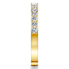 Diamond Wedding Band Arabesque 0.36 Cts 14K Yellow Gold