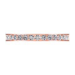 Diamond Wedding Band Arabesque 0.36 Cts 14K Rose Gold