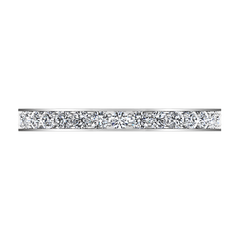 Diamond Wedding Band Arabesque 0.36 Cts 14K White Gold