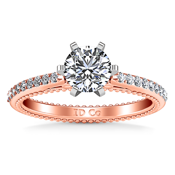 Pave Engagement Ring Embrace 14K Rose Gold