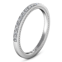 Diamond Wedding Band Embrace 0.39 Cts 14K White Gold