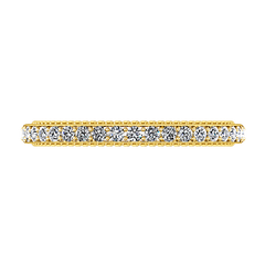 Diamond Wedding Band Embrace 0.39 Cts 14K Yellow Gold