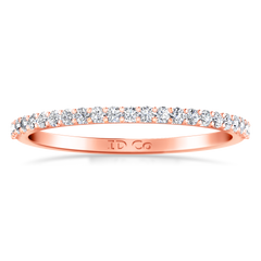 Diamond Wedding Band Tres Jolie 0.17 Cts 14K Rose Gold