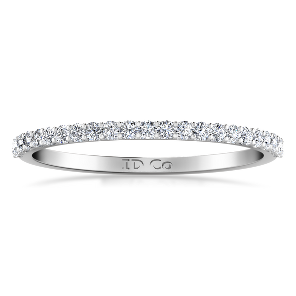 Diamond Wedding Band Tres Jolie 0.17 Cts 14K White Gold