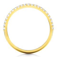 Diamond Wedding Band Tres Jolie 0.17 Cts 14K Yellow Gold