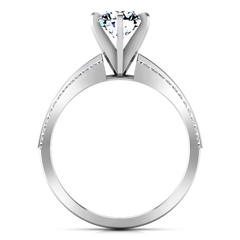 Pave Engagement Ring Amanda 14K White Gold