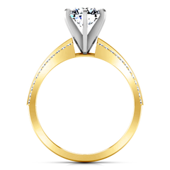 Pave Engagement Ring Amanda 14K Yellow Gold