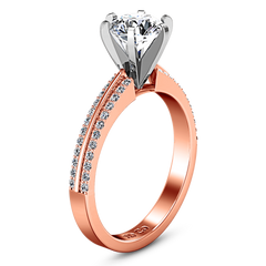 Pave Engagement Ring Amanda 14K Rose Gold