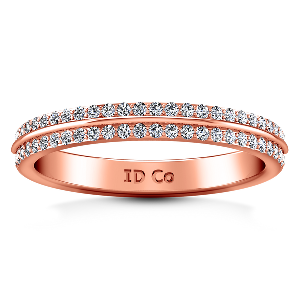 Diamond Wedding Band Amanda 0.63 Cts 14K Rose Gold