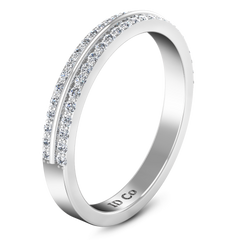 Diamond Wedding Band Amanda 0.63 Cts 14K White Gold