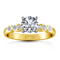 Pave Engagement Ring Rachel 14K Yellow Gold
