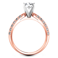 Pave Engagement Ring Amore 14K Rose Gold