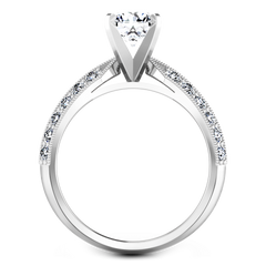 Pave Engagement Ring Amore 14K White Gold