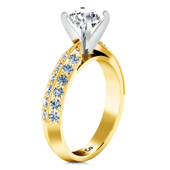 Pave Engagement Ring Amore 14K Yellow Gold