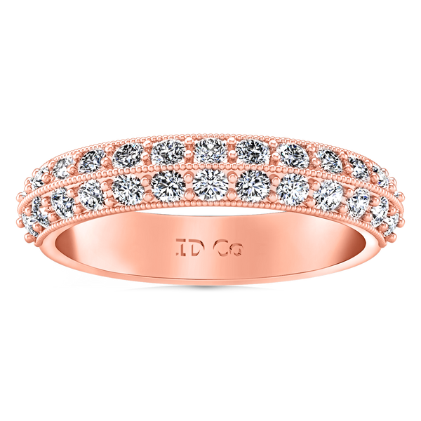 Diamond Wedding Band Amore 0.7 Cts 14K Rose Gold