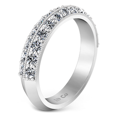 Diamond Wedding Band Amore 0.7 Cts 14K White Gold