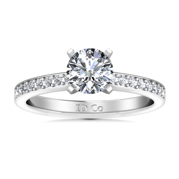 Pave Engagement Ring Belle 14K White Gold