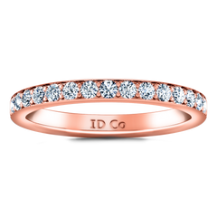 Diamond Wedding Band Belle 0.35 Cts 14K Rose Gold
