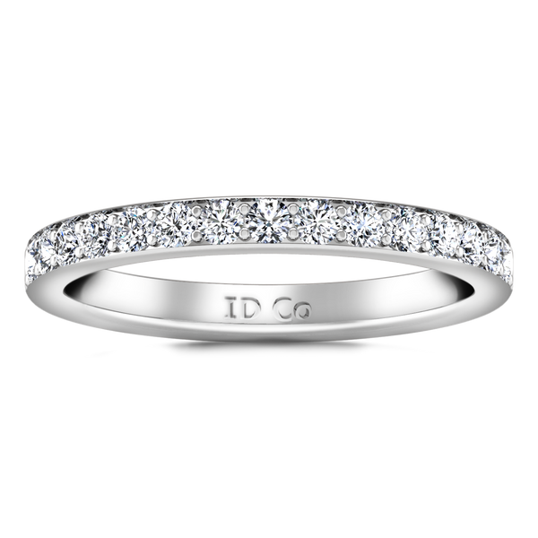 Diamond Wedding Band Belle 0.35 Cts 14K White Gold