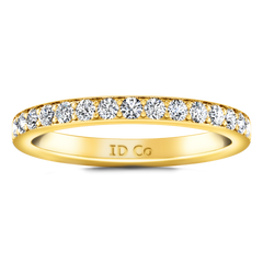 Diamond Wedding Band Belle 0.35 Cts 14K Yellow Gold