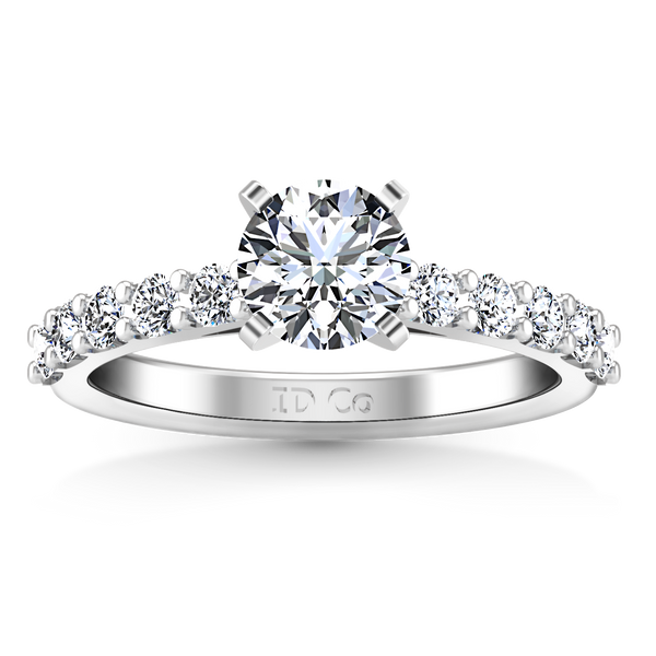 Pave Engagement Ring Cherish 14K White Gold