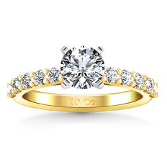 Pave Engagement Ring Cherish 14K Yellow Gold