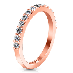 Diamond Wedding Band Cherish 1 Ct 14K Rose Gold
