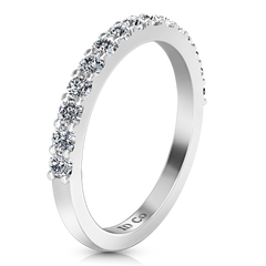 Diamond Wedding Band Cherish 1 Cts 14K White Gold