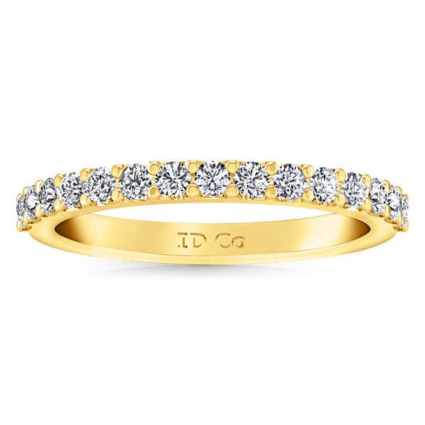 Diamond Wedding Band Cherish 1 Cts 14K Yellow Gold