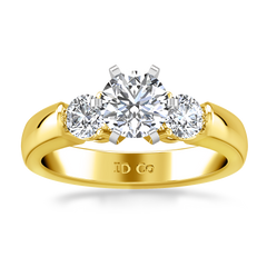Three Stone Engagement Ring Justine 14K Yellow Gold